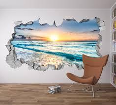Beach View 3d Wall Art Moonwallstickers Com