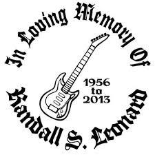 Rock N Roll Electric Guitar Custom Memorial Die Cut Vinyl Car Decal Designer Series Decals In Loving Memory Car Window Decals