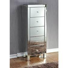 drawer mirrored tallboy dresser