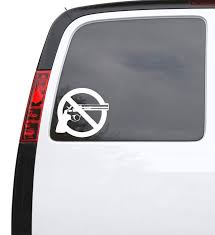 Auto Car Sticker Decal No Guns Peace Revolver Truck Laptop Window 5 4 Wallstickers4you