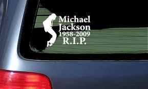 Michael Jackson Memorial Sticker Rip White Vinyl Jared B Waterburyet