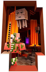 Amazon Com Jinx Minecraft The Nether Removeable Wall Cling Decal Sticker For Kids Room Home Kitchen