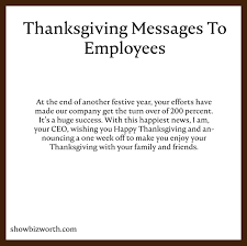 thanksgiving messages to employees quotes wishes greetings