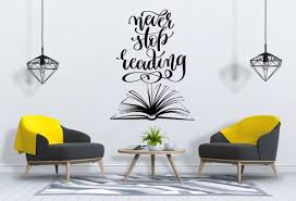 Books Wall Decal Reading Wall Decal Library Wall Decal Book Etsy