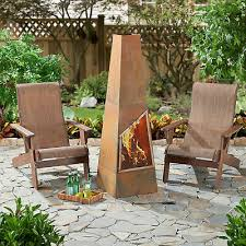 wood burning chiminea freestanding