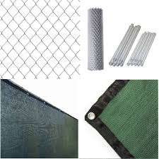 Shop Aleko Galvanized Steel Chain Link Fence 5x50 Ft Complete Kit With Fence Screen On Sale Overstock 27340085