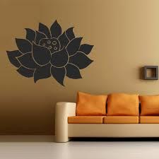 Wall Decal Art Decor Decals Sticker Flower Lotus Beauty Plant Longevity Luck Symbol Cleanliness Heart Mind Tibet India Wall Decals Art Decor Wall Stickers Murals