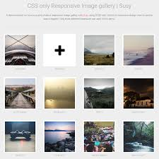 pure css responsive image gallery