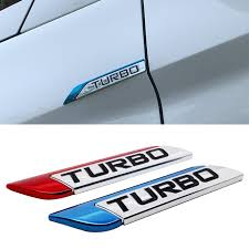 Car Styling Car Sticker Turbo Logo Auto Metal Decal Emblem Badge For Suzuki Isuzu Volvo Ssang Yong Tesla Saab Acura Buick Skoda Car Stickers Aliexpress