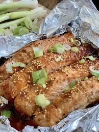Asian Glazed Salmon in Foil - Pound Dropper
