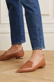 tan beya textured leather loafers
