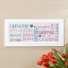 70th birthday gift for her of wall art