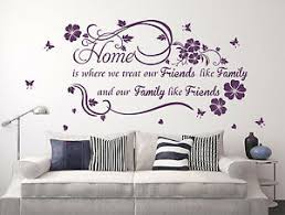 Home Family Friends Wall Quotes Vinyl Wall Sticker Wall Decal High Quality Ebay