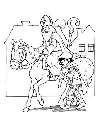 Kleurplaten Van Sint En Piet Nieuwe Kleurplaat Sinterklaas Op Zijn