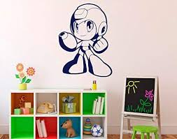 Amazon Com Mega Man Game Wall Decal Comics Superhero Wall Vinyl Sticker Home Interior Kids Children S Room Decor Removable Kitchen Dining