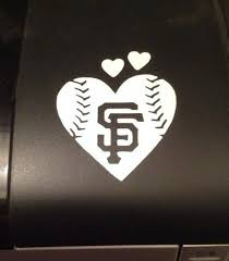 San Francisco Giants Baseball Heart Vinyl Car Decal Small Etsy San Francisco Giants Baseball Giants Baseball Sf Giants Baseball