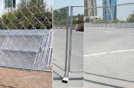 Chain Link Mesh Temporary Fence Panels Galvanised Powder Coated
