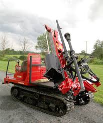 Compact Tractor Attachments Tracked Post Driver For Sale
