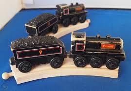 tank engine wooden railway train rare