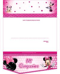 Invitaciones De La Minnie Mouse Gratis Invitacion Feliz