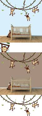 Pin By Rene Elizabeth On Peyton Room Monkey Baby Rooms Monkey Wall Decals Cool Walls