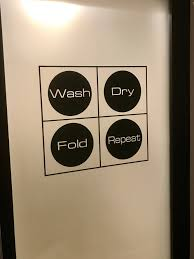 Laundry Room Decor Laundry Room Wall Decal Wash Dry Fold Repeat