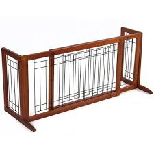 Best Choice Products Pet Fence Gate Free Standing Adjustable Dog Gate Indoor Solid Wood Construction Dfadfdsfewrqwr