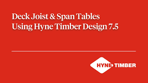 deck joists span tables using hyne