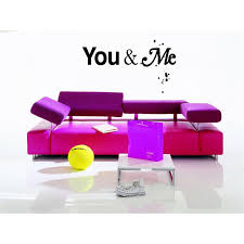 Shop Together And Forever You And Me Quote Wall Art Sticker Decal Overstock 11523086