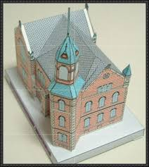 Byron Stone-Clarke Memorial Hall Free Building Paper Model Download