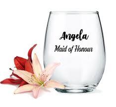 personalized wine glass got free