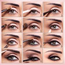 how to put makeup on your eyes step by
