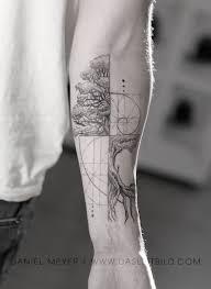 Fibonacci Spiral intertwined tree. Math/Nature for Jonathan. Los Angeles  booking requests: www.dasleitbild.co… | Spiral tattoos, Geometric tattoo,  Fibonacci tattoo