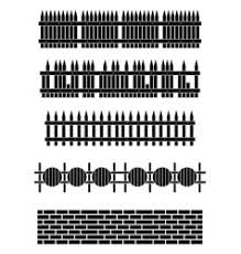 Fence Silhouette Vector Images Over 5 000