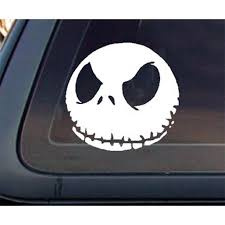 Jack Skellington 5 Car Decal Sticker Walmart Com Walmart Com