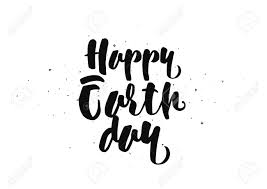 happy earth day inscription greeting card calligraphy