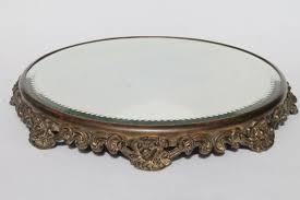 ornate metal frame plateau w round