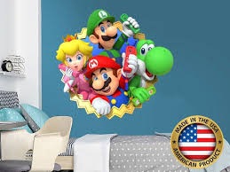 Super Mario Wall Decal Super Heroes Mario Wall Stickers Etsy