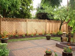 Wood Privacy Panels With Lattice Topper And Lattice Overlay Backyard Fences Diy Privacy Fence Privacy Fence Designs