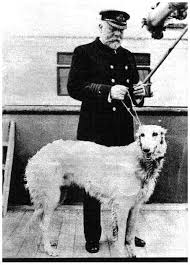 Captain Edward Smith of the Titanic and his beautiful Borzoi which was  saved. | Titanic, Titanic histoire, Levrier