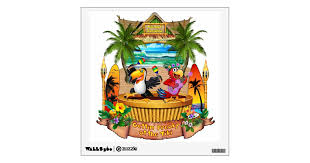 Gettin Freaky At The Tiki Wall Decal Zazzle Com