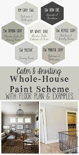 inviting whole house paint scheme