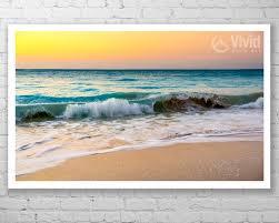 beach sunset canvas wall art framed