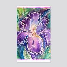 Iris Flower Wall Decals Cafepress