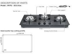 2 burner auto ignition gas stove