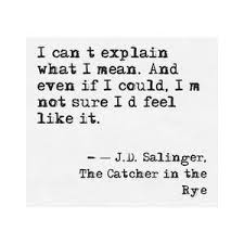 catcher in the rye quotes test