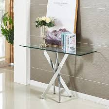 daytona glass console table rectangular