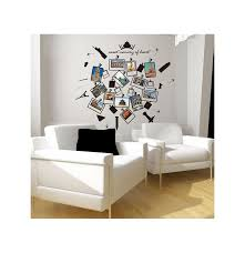 Creative Kids Travel Memory Room Decor Children Hollow Building Album Wall Stickers