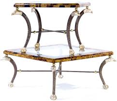 a maitland smith glass top coffee table