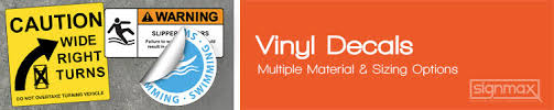 Vinyl Decals Custom Vinyl Decals Signmax Com
